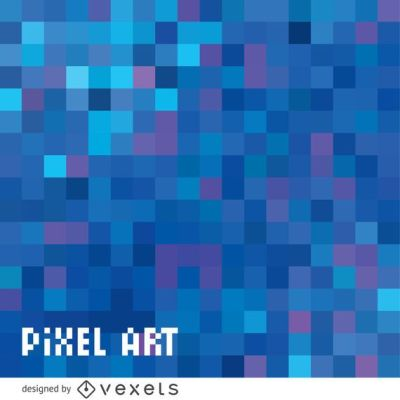 Abstract blue pixel background - Vector download