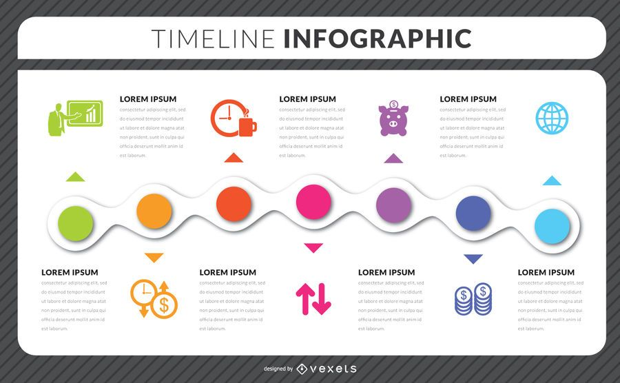 Timeline infographic template - Vector download