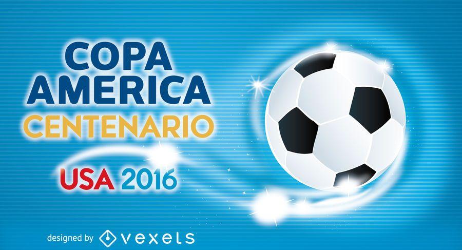 Copa America soccer banner template - Vector download