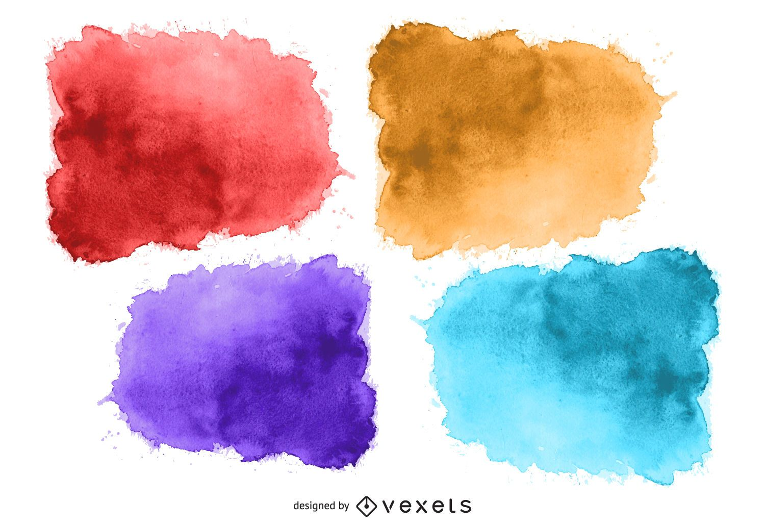 Cute Wallpaper In Twitter Watercolor Stain Set Vector Download