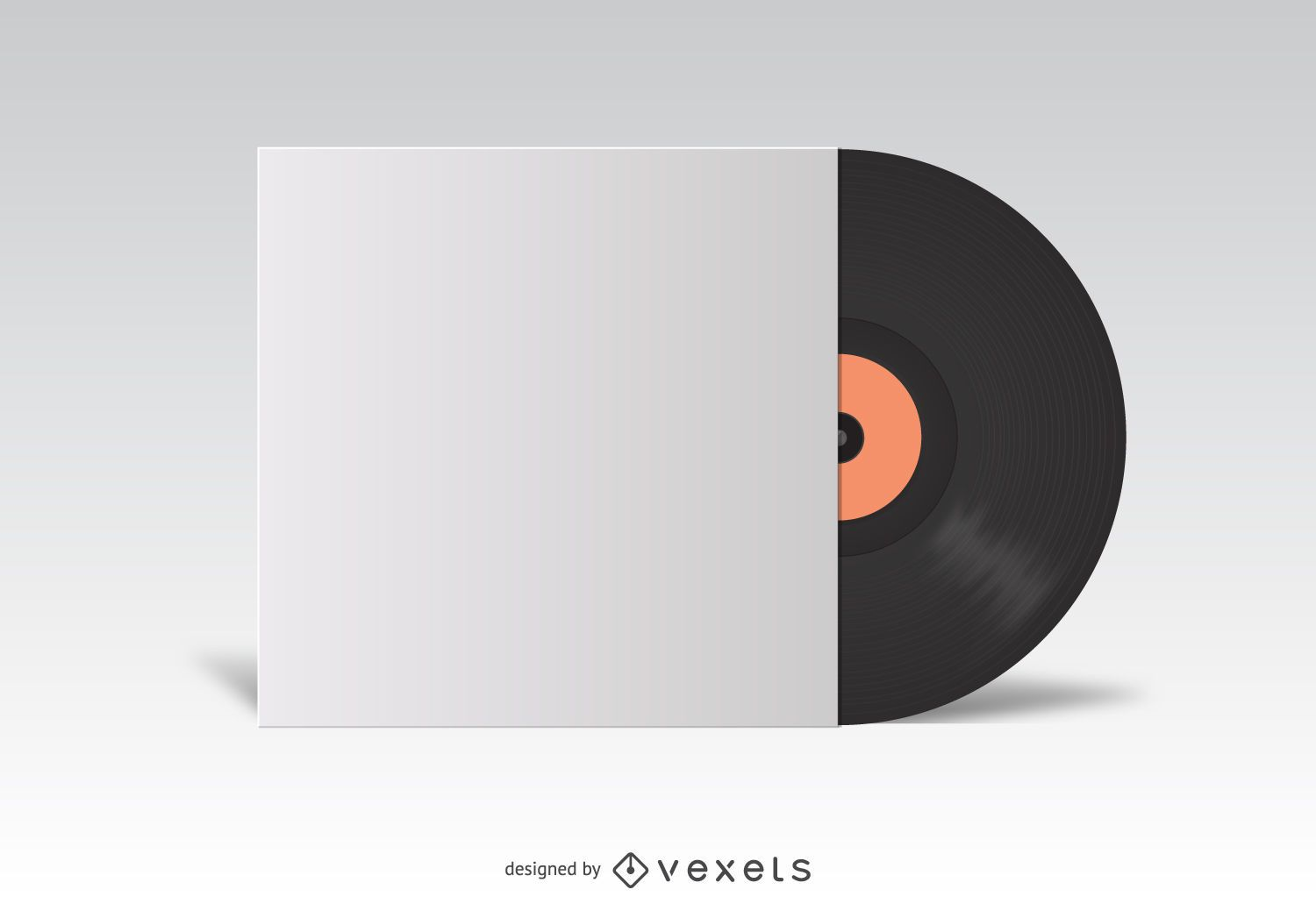 Mockup Box Open Free Vinyl Lp Cover White Mockup - Vector Download