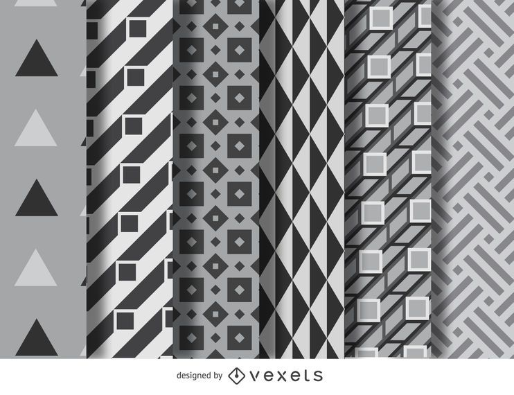 Geometric pattern set - Vector download
