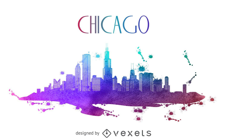 Patrick Willis Hd Wallpaper Chicago Watercolor Skyline Silhouette Vector Download