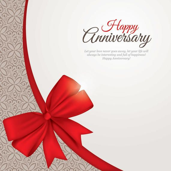 Beautiful Anniversary Card Template - Vector download