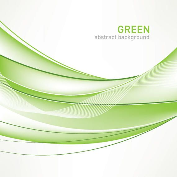Download Vector - Green waves abstract background - Vectorpicker