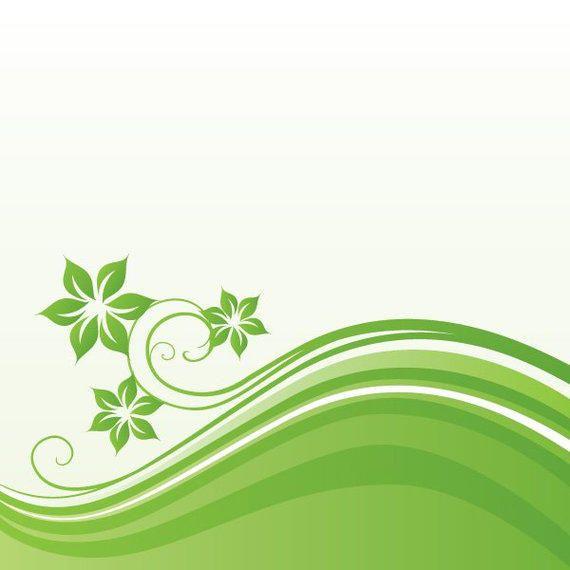 Green Waves Floral Background - Vector download