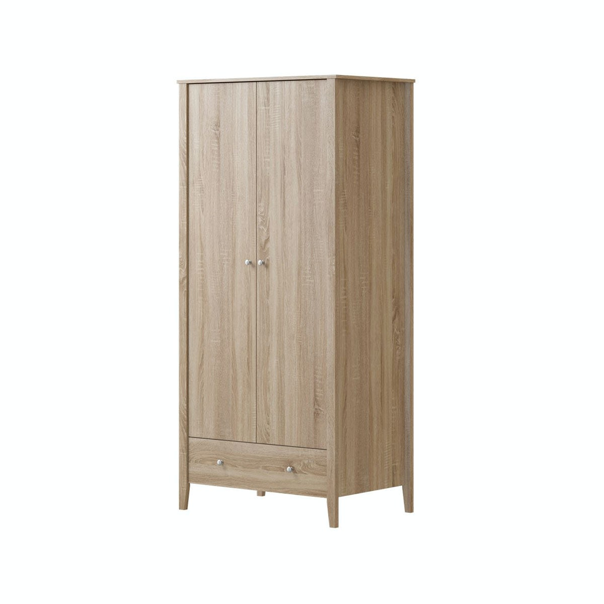 Wardrobes For Sale Sydney Mfi Sydney Oak 2 Door 1 Drawer Wardrobe Victoriaplum