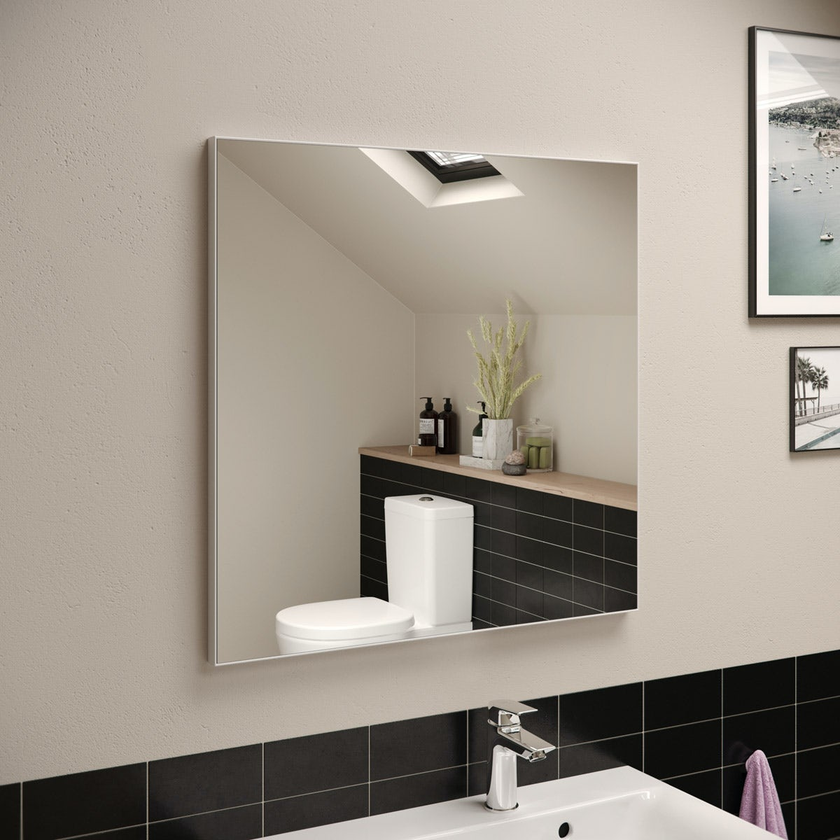 Ideal Standard Framed Mirror 700 X 700mm Victoriaplum Com