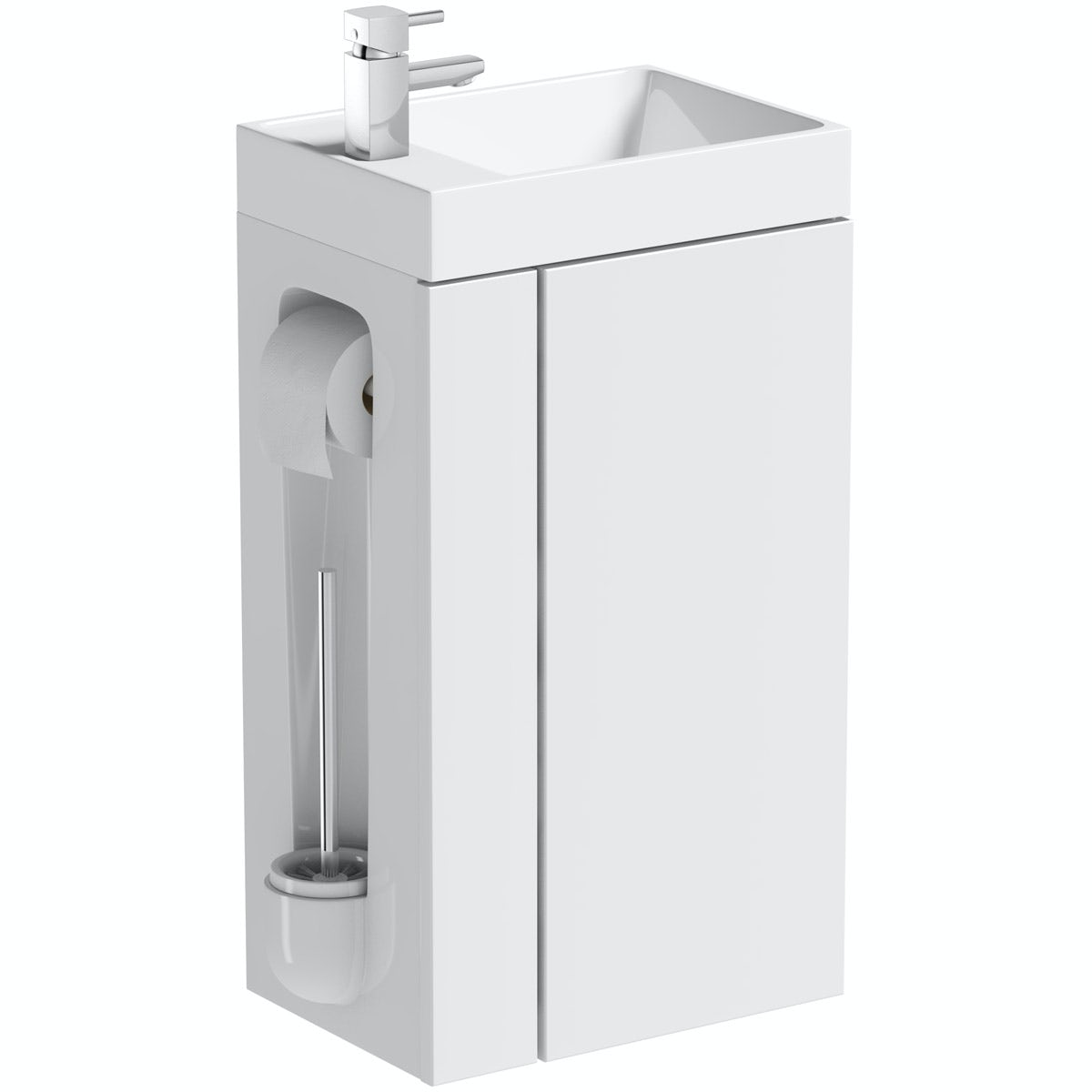 White Toilet Roll Holder Orchard Compact White Vanity Unit With Toilet Roll Holder Brush