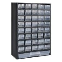 vidaXL.co.uk | 41-Drawer Plastic Storage Cabinet Tool Box