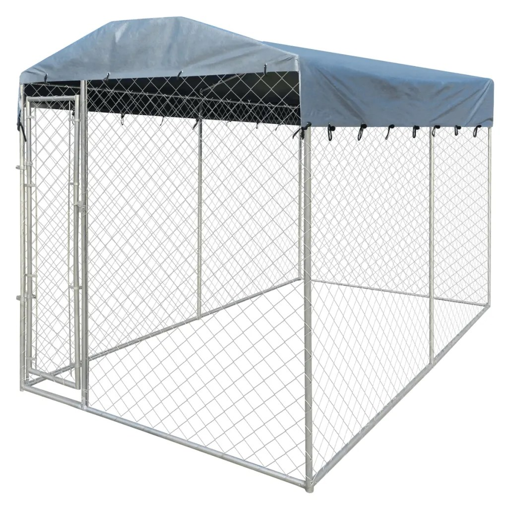 "Enclos Pour Chat Exterieur Pas Cher Heavy-duty Outdoor Dog Kennel With Canopy Top 79"" X 158"" X"