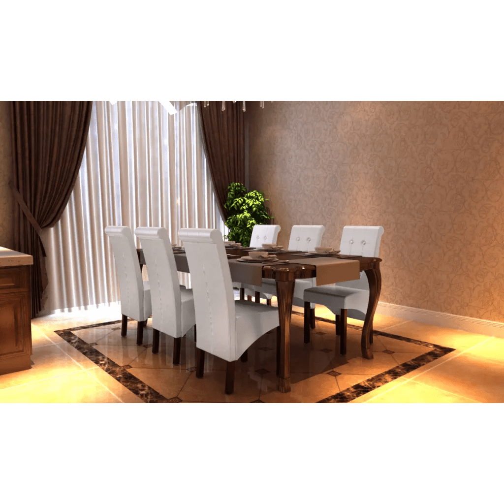 Lot De 6 Chaises En Cuir La Boutique En Ligne Chaise Antique Simili Cuir Blanc Lot