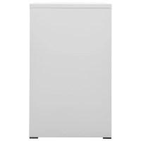 vidaXL.co.uk | Metal Hanging File Cabinet 3 Drawers Grey