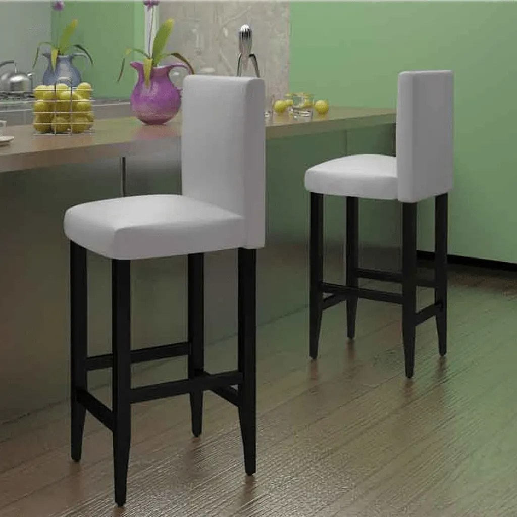 Charly Lot De 2 Tabourets De Bar Blancs La Boutique En Ligne Lot De 2 Tabourets De Bar En Cuir