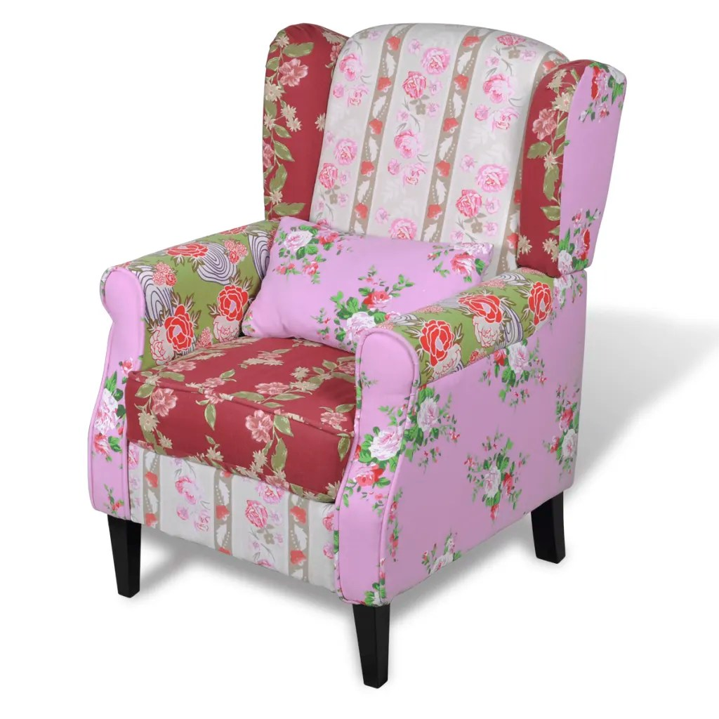 Patchwork Sessel Amazon Patchwork Relaxsessel Blumendesign Vidaxl At