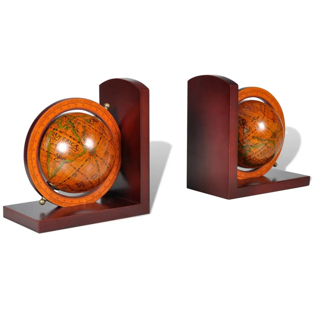 Classic Bookends Vidaxl Co Uk Bookstand World Map Globe Bookend Classic A