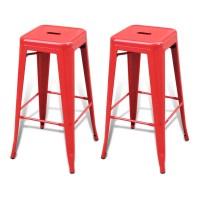 Bar Chair High Chairs Bar Stools Square 2 pcs Red | vidaXL.com