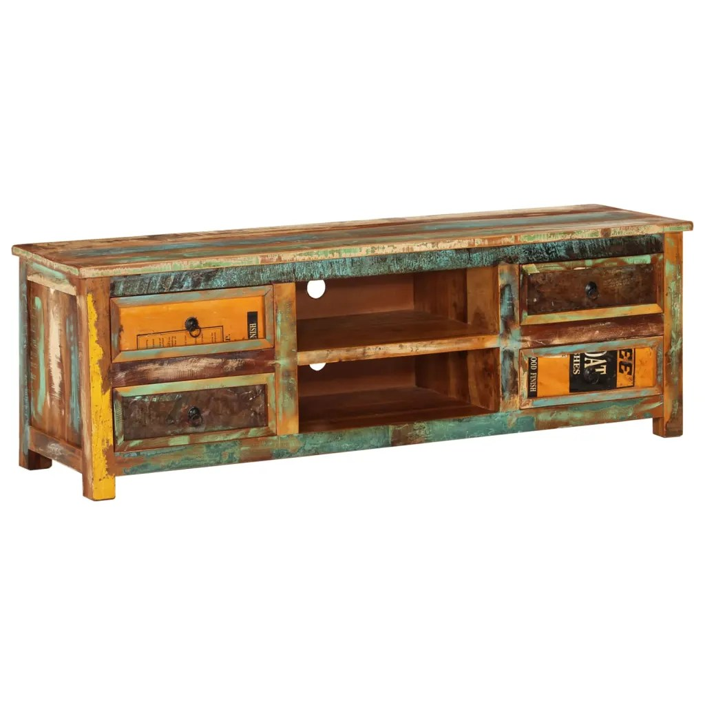 Meuble Tv Vidaxl Vidaxl.co.uk | Reclaimed Wood Tv Cabinet Tv Stand 4 Drawers