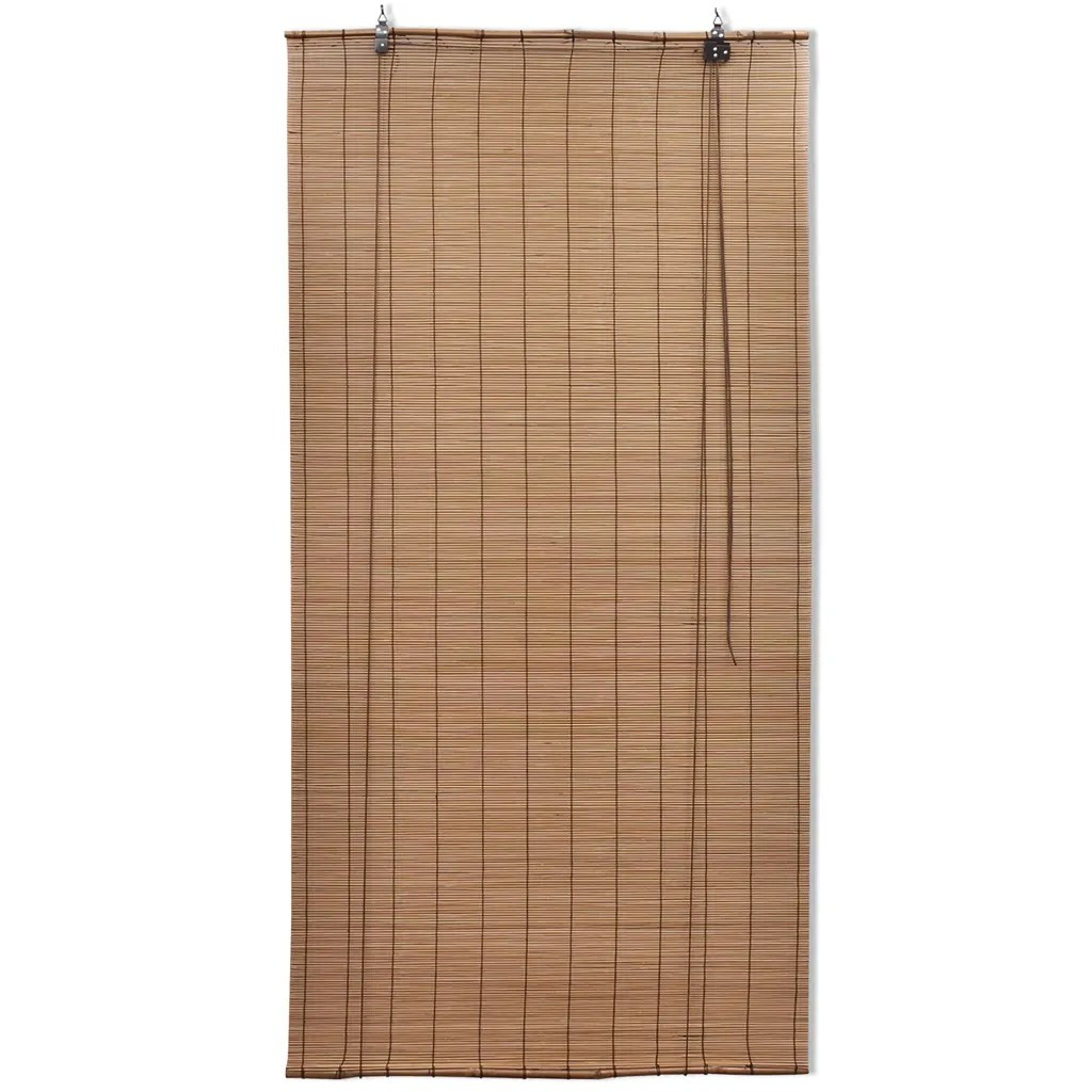 140 Cm Vidaxl Co Uk Brown Bamboo Roller Blinds 140 X 160 Cm