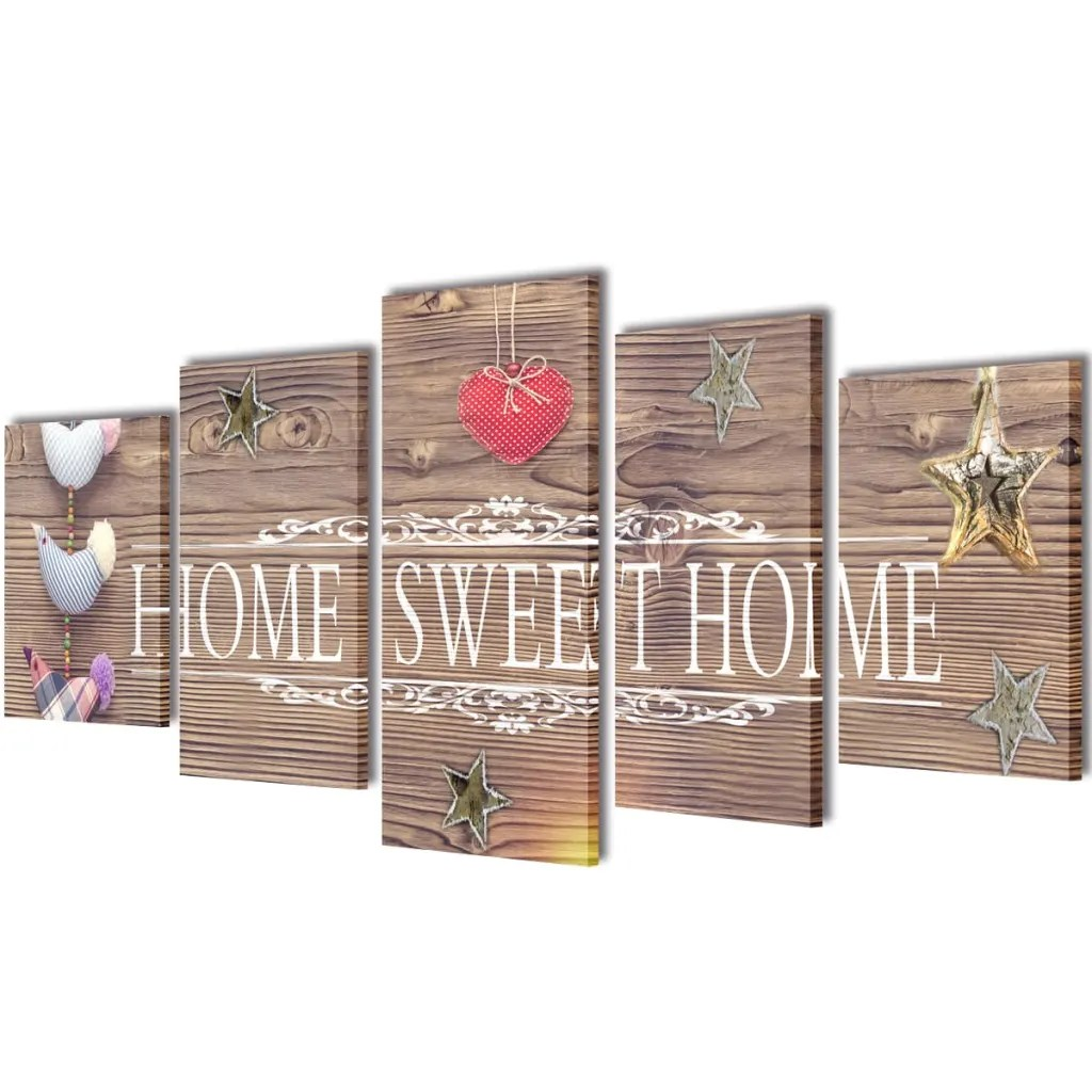 Dekoration Home Der Bilder Dekoration Set Home Sweet Home 200 X 100 Cm