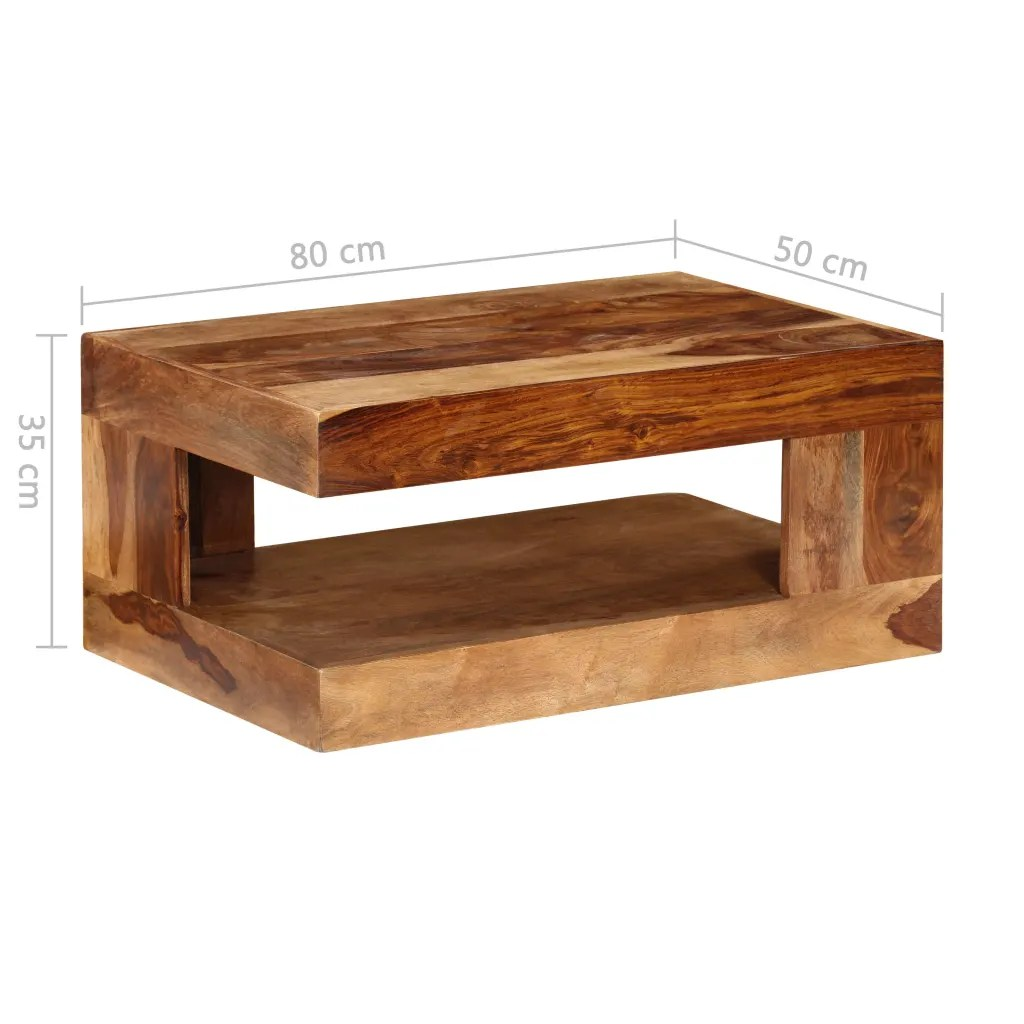 Vidaxlcouk Sheesham Solid Wood Coffee Table