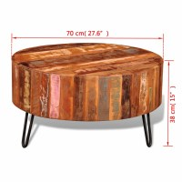 vidaXL.co.uk | Reclaimed Solid Wood Round Coffee Table