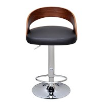 2 pcs Bentwood Bar Stool with Backrest Height Adjustable ...