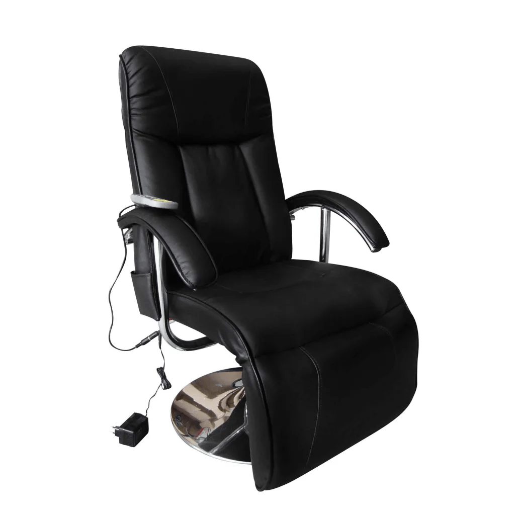 Electric Recliner Leather Chairs Black Artificial Leather Electric Tv Recliner Massage