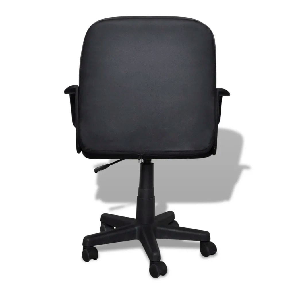 Ergonomic Swivel Office Chair Luxury Leather Office Chair Height Adjustable Swivel Black