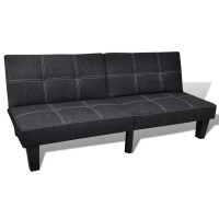 Sofa Bed Adjustable Black | vidaXL.com