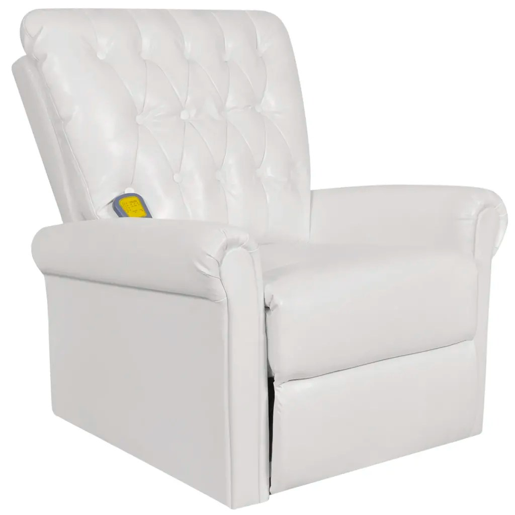 Electric Recliner Leather Chairs White Electric Artificial Leather Recliner Massage Chair