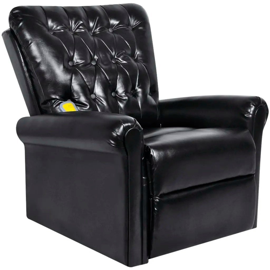 Electric Recliner Leather Chairs Black Electric Artificial Leather Recliner Massage Chair