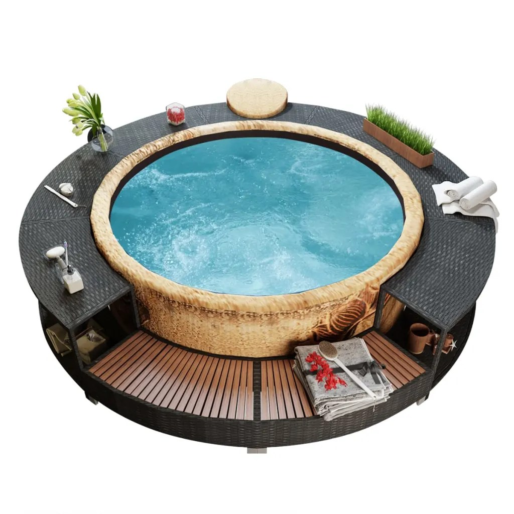 Jacuzzi Pool De Vidaxl Nl Bestway Lay Z Spa Opblaasbare Hot Tub Met