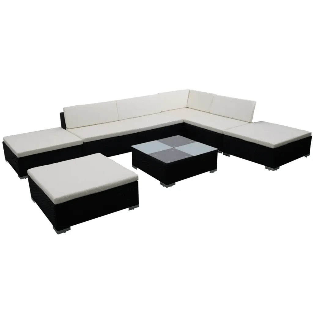 Amazon Gartenmöbel Rattan Gartenmöbel Poly Rattan Lounge Set Garnitur Vidaxl At