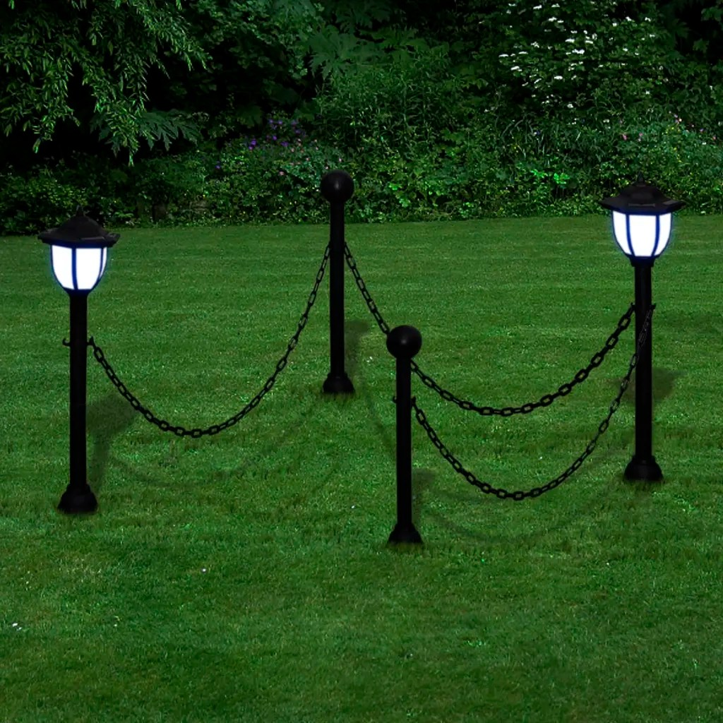 Solar Rope Lights Australia Vidaxl Co Uk Chain Fence With Solar Lights Two Led Lamps