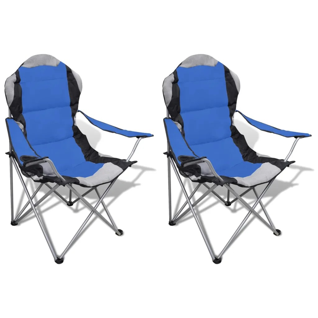Outdoor Folding Chairs Folding Chair Set 2 Pcs Camping Outdoor Chairs Xxl With