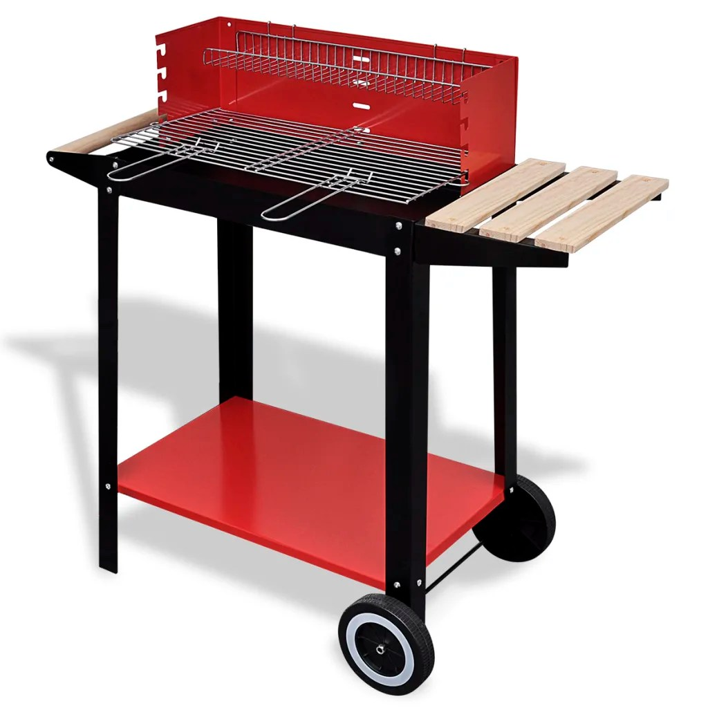 Charcoal For Bbq Charcoal Bbq Stand With 2 Wheels Vidaxl