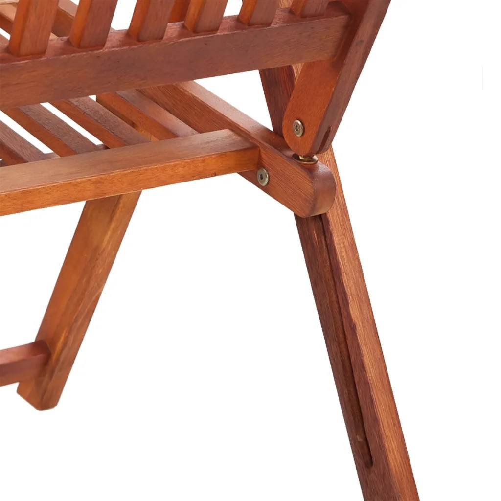 Chair Wooden 2 Wooden Folding Chairs With 5 Positions Vidaxl