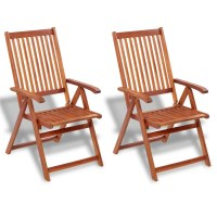 2 Wooden Folding Chairs with 5 Positions | vidaXL.com