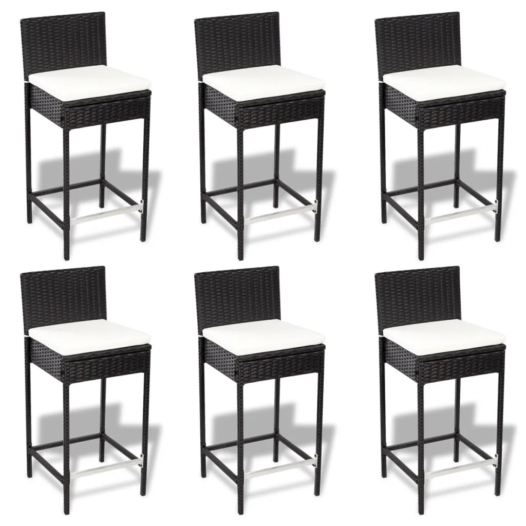Set De 1 Table Bar Et 4 Tabourets Noir La Boutique En Ligne Set Mobilier De Bar En Polyrotin 6