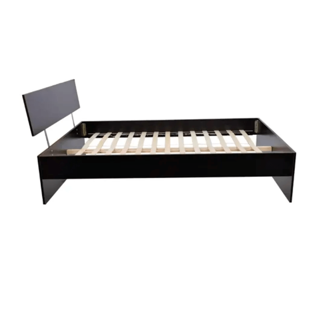 140 Cm Vidaxl Co Uk Dark Wood Double Bed 140 X 200 Cm European Size