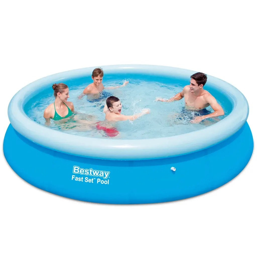 Pool Polyester Rund Vidaxl Co Uk Bestway Fast Set Round Inflatable Swimming
