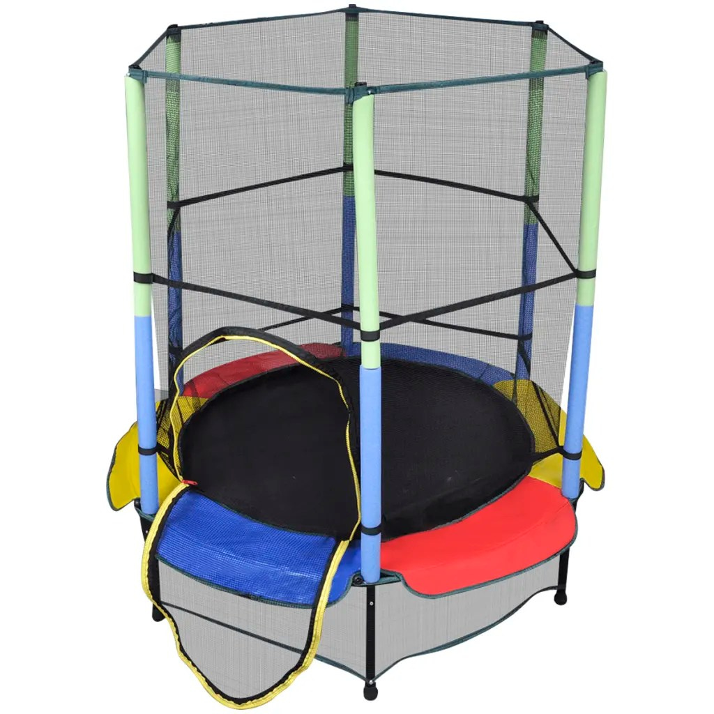140 Cm Vidaxl Co Uk Trampoline With Safety Net 140 Cm
