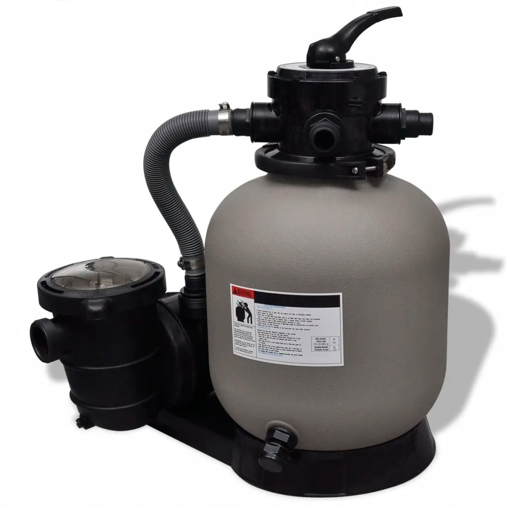 Pool Filter Pump Pressure Sand Filter With Pool Pump 1 39 2 39 39 Vidaxl