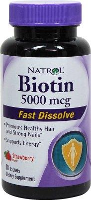 Natrol Biotin hair vitamins
