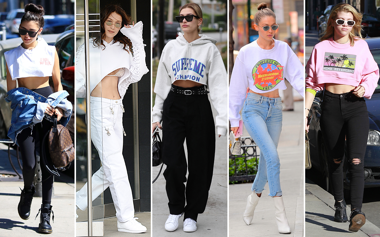The Fall Film Wallpaper The Cropped Sweatshirt Trend Kylie Jenner Gigi Hadid And