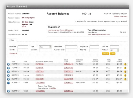 WB Mason - Online Statements - how do you do an invoice