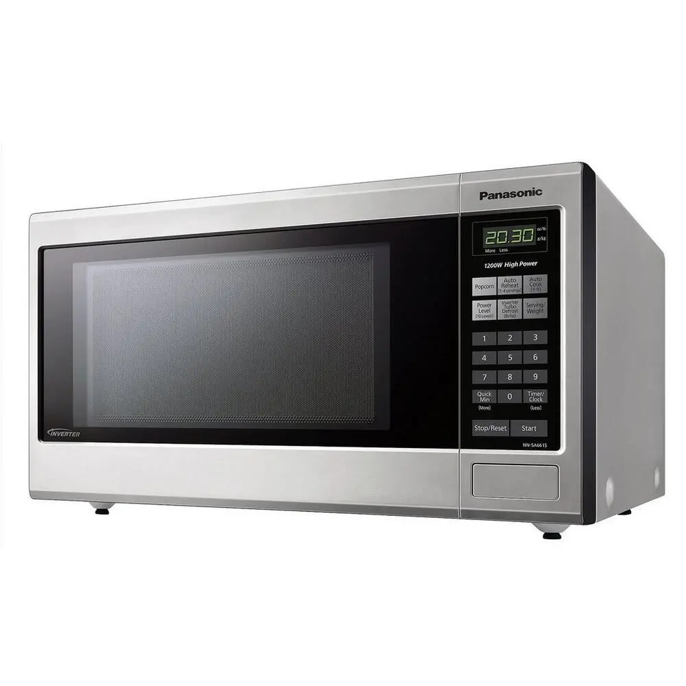 Nnsa661spanasonic 1 2 Cu Ft Countertop Microwave Oven With Inverter Technology Stainless Steel Nn Sa661s Hamai Appliance