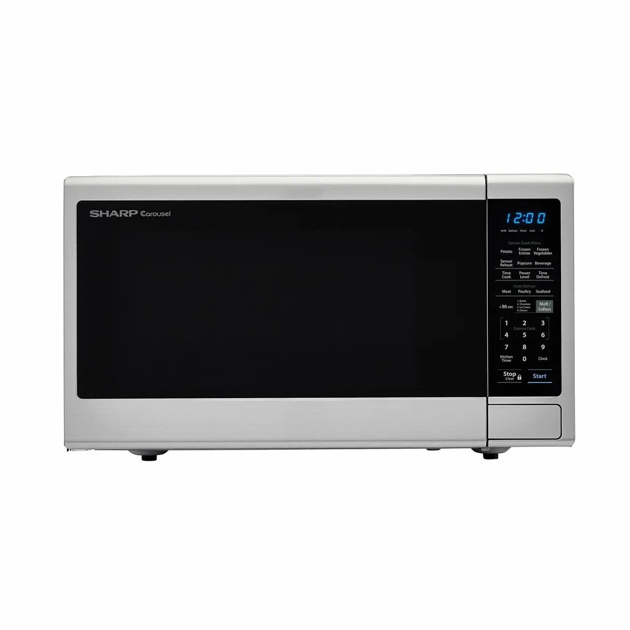 Smc1443cm Sharp Appliances 1 4 Cu Ft 1000w Sharp Black Carousel Countertop Microwave Oven Ca Wilson Company