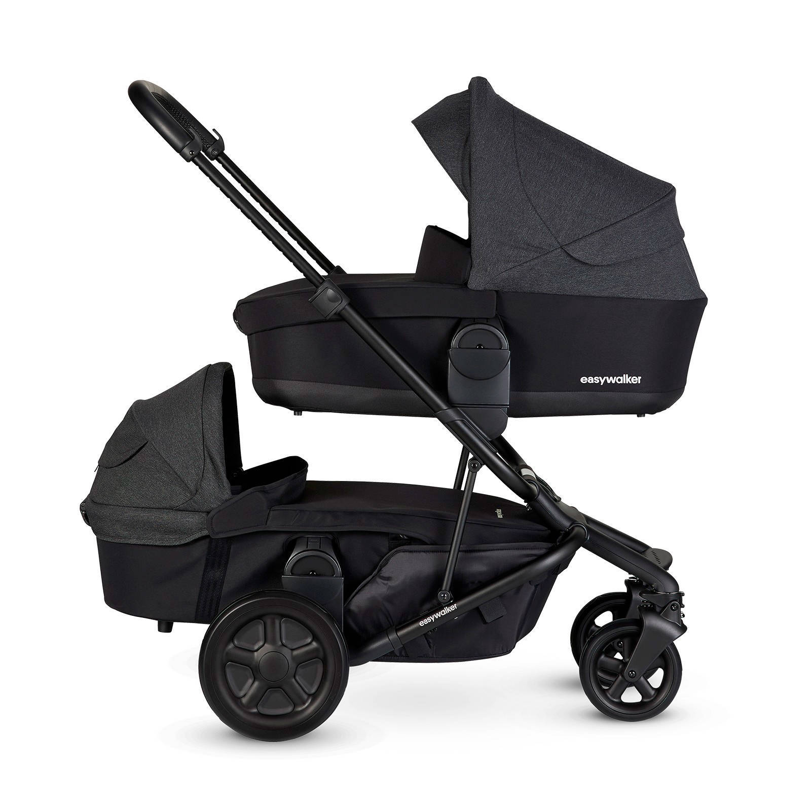 Kinderwagen Easywalker Duo Harvey² 2 In 1 Duo Kinderwagen Night Black
